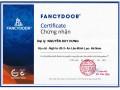 Giấy chứng nhận nhà phần phối của Fancydoor tại 5 tỉnh miền Bắc.